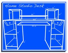How to build a home recording studio desk.