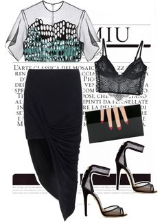 A fashion look from August 2014 featuring see through shirt, maxi skirts and underwire bra. Browse and shop related looks. Night Outfits, Chic Outfits, Runway Fashion, Womens Fashion, Fashion 2016, Basic Wear, Everyday Outfits, Style Guides, Autumn Winter Fashion