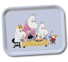 Moomin - Wooden tray -Teaparty- blue, 27x20 cm (Opto Design) [101-59]