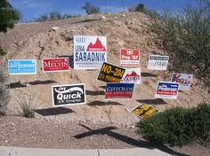 Political campaign sign is important for campaigning.