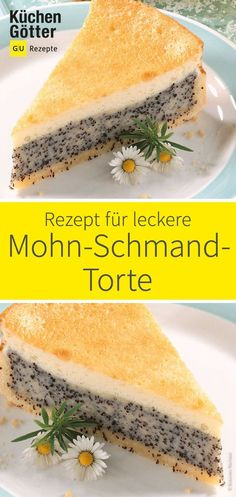 Poppy sour cream cake - Backen - Mohn-Schmand-Torte We will show you a great recipe for a delicious poppy seed cake. Easy Cheesecake Recipes, Easy Smoothie Recipes, Cheese Cake Receita, Baking Recipes, Cookie Recipes, Poppy Seed Cake, Sour Cream Cake, Food Cakes, Ice Cream Recipes