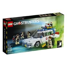 Includes 4 minifigures with proton packs: Peter Venkman, Ray Stantz, Egon Spengler and Winston Zeddemore and an exclusive Ghostbusters booklet Ecto-1 vehicle features Ghostbusters logo decoration, paranormal detection equipment, removable roof, tracking computer and seats for 3 minifigures Strap on the proton packs and power up! Jump in Ecto-1 and track down some ghosts! Don't cross the streams!   toys4mykids.com