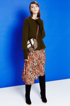 M Missoni | Fall 2014 Ready-to-Wear Collection | Style.com. me gusta la mezcla de lana, flores y botas!!!!