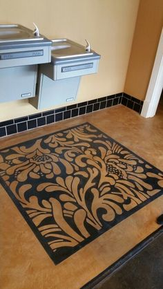 #Skimstone concrete carpet created by #artworksnw
