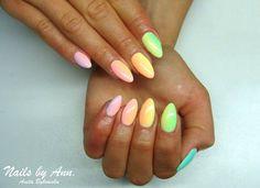 by Aneta Bykowska :) Follow us on Pinterest. Find more inspiration at www.indigo-nails.com #nailart #nails #indigo #pastel #mix #summer #multicolour