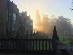 micahjordanHad afternoon tea at Tylney Hall Hotel today. We parked in the back and walked up at sunset. #tylneyhall