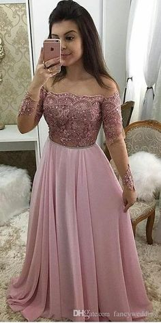 Lace Beaded Sexy 2019 African Evening Dresses Sheer Neck Chiffon Prom Dresses Long Sleeves Formal Party Bridesmaid Pageant Gowns ZJ88 Buy Dress Designer Formal Dresses From Fancywedding, $110.56| DHgate.Com