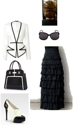"""Black & White"" by samantha-lawler ❤ liked on Polyvore"