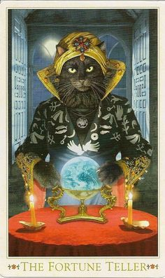 How About Some Tarot Cards With Gorgeous Baroque Bohemian Cats On Them?