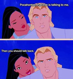 Pocahontas (Disney) Not what he thought would happen