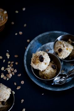 Recetas de Mon: Helado de mango con galletas de avena/ Mango Ice Cream with Oatmeal Cookies