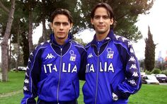 Filippo e Simone Inzaghi Soccer Guys, Italy, Sports, Football Soccer, Hs Sports, Italia, Sport, Exercise