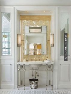 Neat - lucifer lighting has a minimalist recessed fixture-- DL2RZP zero sightline -- but large aperture | CHECK OUT MORE VANITIES AND VANITY IDEAS AT DECOPINS.COM | #vanities #vanities #vanity #jewelrydrawer #jewelrychest #jewelry #mirror #mirroredvanity #jewels #frenchvanity #antiquevanity #bluevanity #purplevanity #pinkvanity #blackvanity #whitevanity #redvanity #greenvanity #yellowvanity