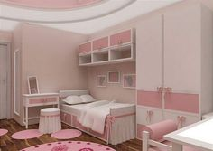 Комната девочки 3-11 лет - Дизайн интерьера детских комнат