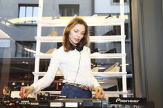 DJ Nina Kraviz @ the Lacoste L!VE Store Opening Party in Geneva.      © MBecker 2012