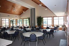 Claytor Lake State Park  CL Waters Edge Meeting Facility | View of meeting area  Virginia State Parks Wedding page: www.dcr.virginia.gov/state-parks/weddings
