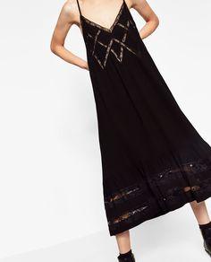 Image 2 of SLIP DRESS WITH SPAGHETTI STRAPS from Zara