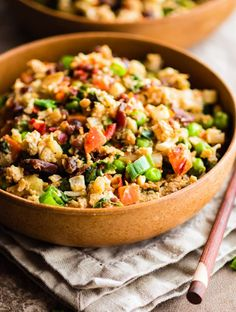 Paleo Cauliflower Fried Rice! easy and quick