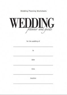 printableweddingplanner printable wedding planner in 2018