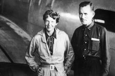 A photo of Amelia Earhart and Fred Noonan taken just before the infamous last flight. The two were never seen again. #1932
