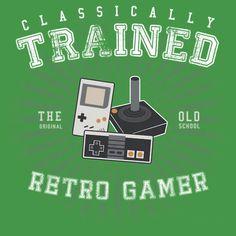 Classically Trained Retro Gamer Tee