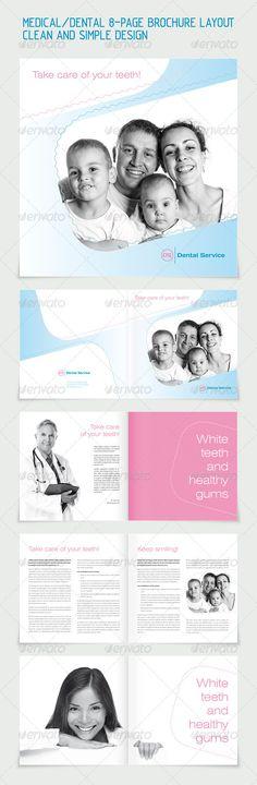 Dental/Medicine 8-pages Brochure Layout