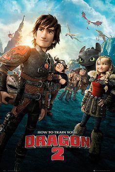 Póster Portada Como Entrenar a tu Dragón 2 Estupendo póster con la imagen de la portada de la segunda entrega de la película Como Entrenar a tu Dragón 2.