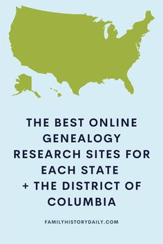 To help jump-start your own U.S. state-based research, we're sharing the following list of digital resources from across the country. For each state, and the District of Columbia, we've highlighted two of the best online research sites available – 102 in all. Free Genealogy Sites, Genealogy Research, Digital