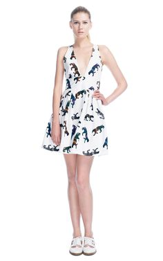 The releasing the animal inside: MSGM panther crisscross dress