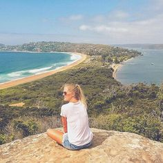 Palm Beach, what a beautiful part of Sydney! ••••••••••• Don't know why it has taken us so long to visit this part of Sydney. Today we did the Barrenjoey Lighthouse walk at Palm Beach and this is the amazing view for the top! #barrenjoeylighthouse #palmbeach #sydneywalks #sydneybeach