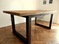 Resultado de imagen para mesa madera y hierro