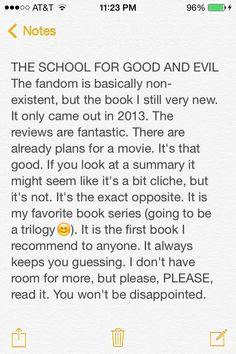 The School for Good and Evil by Soman Chainani. Favorite book series besides PJO and HoO.