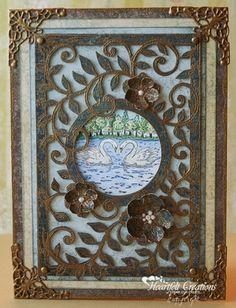 Heartfelt Creations   Framed Swans
