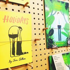 Last night @hatopress Love all their riso publications really pushing the printing process. Holidays by @jean_jullien and Gordon by @danielfrostillustration are incredible!  #hatopress #jeanjullien #danielfrost #riso #risograph #illustration #holidays