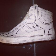 Testing shoe patterns #footwearstudio #footwearlast #footweardesigner #last #template #designerlife
