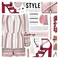"""Lace Up Sandals - Style Insider"" by noviii ❤ liked on Polyvore featuring Topshop, Rebecca Minkoff, Aquazzura, Matthew Williamson, Stila, BoConcept, Jane Iredale, Bobbi Brown Cosmetics, Natalie B and contestentry"