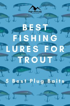 When you go fishing for trout and other species, it's very important to have a range of different lures to call on when the fish aren't biting. Sometimes, things like spinners and soft plastics will do the trick, but at other times, you will have to use spoons or plug baits. Best Trout Lures, Best Fishing Lures, Trout Fishing Tips, Going Fishing, Bait, Spoons, Fresh Water, Plugs, Range
