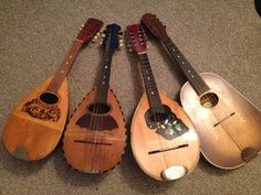 Vintage Bowl Back Mandolin... and on the right an unknown Montgomery Ward 'mandolin type' instrument.... a mystery! by Institute of Sound