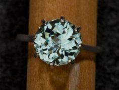 Birthstone ~ Green Amethyst Alternative Engagement Ring 504 Ct by janeysjewels. $195.00, via Etsy.