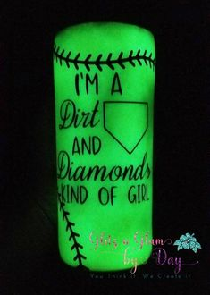 I'm A Dirt And Diamonds Kind of Girl Softball Glitter Tumbler, Softball Glow in the dark tumbler, glitter tumbler, softball tumbler Girls Ripped Jeans, Mom Tumbler, Girls Softball, Loose Glitter, Daughter Love, Happy Planner, Things To Think About, Diamonds, Glitter Tumblers