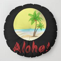 Aloha Hawaii Palm Trees Floor Pillow Home Decoration Ideas Aloha Hawaii, Holiday Outfits, Floor Pillows, Summer Vibes, Palm Trees, Cool Stuff, Decoration, Birthday, Inspiration