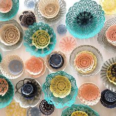 20 Beautiful Upcycled Doily Crochet Decor Items from Maillo