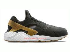 quality design fb315 8a302 Nike Air Huarache Run Suede Chaussures Nike Officiel Pas Cher Pour Homme  Noir 2019 318429-