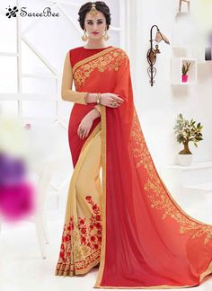 Noble Beige and Red Designer Half N Half Saree  For More Information WhatsApp 7202080091 Or Visit www.SareeBe.com  #red  #designer  #instagram  #kurti  #fashionista  #makeup  #delhi  #outfitoftheday  #women-fashion  #myfirststory  #model  #indian  #saree  #ramadanmubarak  #trendy  #ethnic  #picoftheday  #menonroposo  #roposolove  #cool  #firstpost  #soroposo  #summer-style  #streetstyle  #summer  #newdp  #beauty  #traveldiaries  #styles  #youtuber  #bestSeller