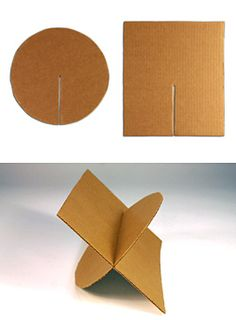 Photograph of cardboard with slots