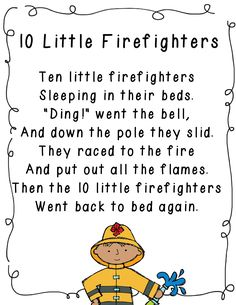 FREEBIE: Kindergarten - Nice literacy connection to a community helpers unit fire Community Workers, School Community, Preschool Music, Preschool Lessons, Preschool Fingerplays, Preschool Prep, Dc Fire, Fire Safety Week, Fire Safety For Kids