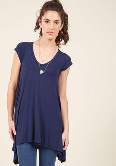 #AdoreWe #ModCloth ModCloth A Crush on Casual Tunic in Navy - AdoreWe.com