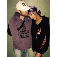 Imagen de ariana grande, mac miller, and ariana Ariana Grande Fotos, Ariana Grande Mac, Ariana Geande, Mac Miller And Ariana Grande, Rap Song Lyrics, Hip Hop Art, Dangerous Woman, Best Couple, Boyfriends