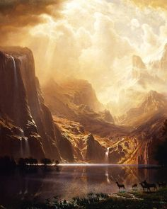Albert Bierstadt. Detail from Among the Sierra Nevada, California.