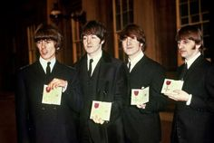 Oct. 26, 1965 - THE BEATLES RECEIVE MBE MEDALS FROM THE QUEEN The Beatles received MBE medals as Members of the Most Excellent Order of the British Empire from Queen Elizabeth II at Buckingham Palace.